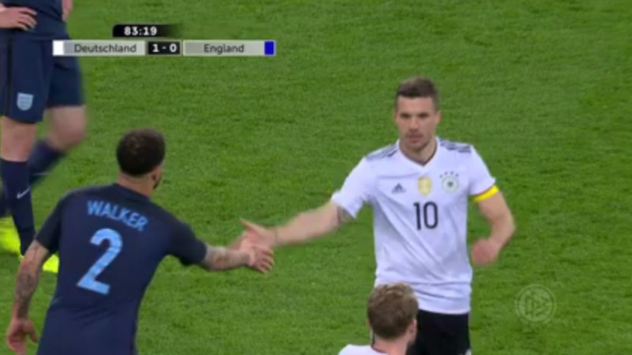 Podolski Tor Gegen England