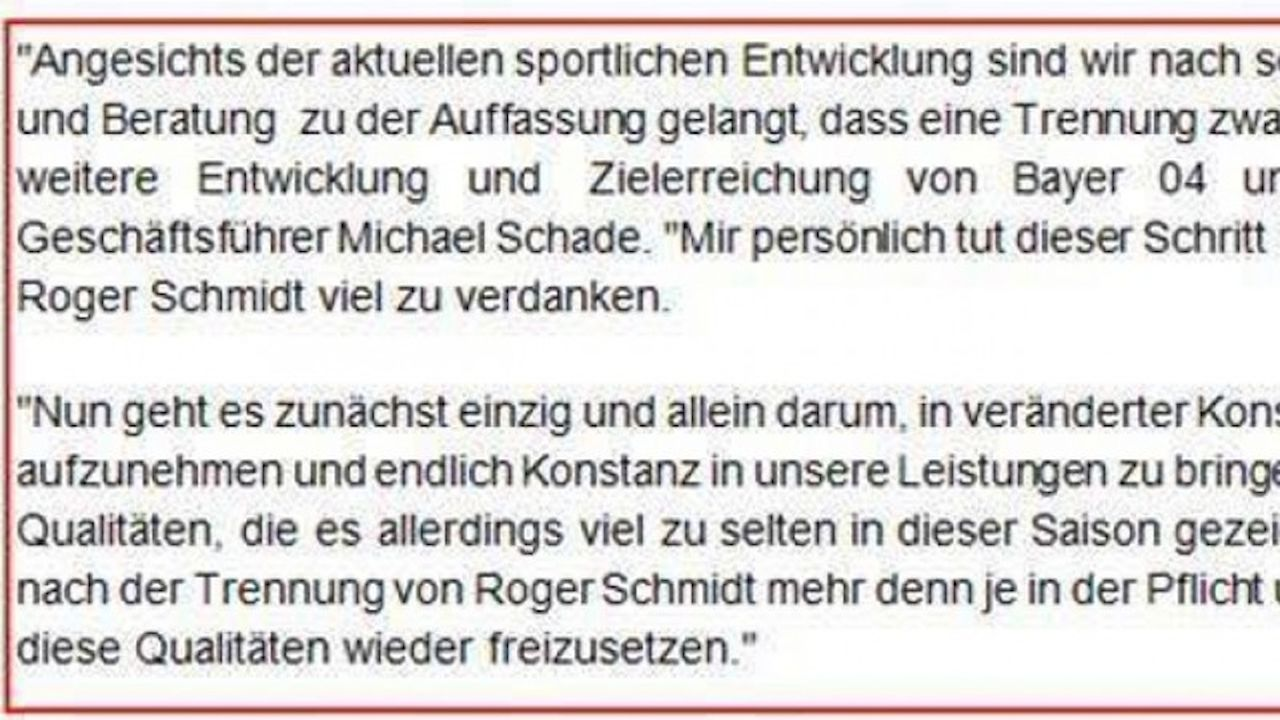 Gleiche Word-Vorlage? Leverkusen und SpVgg Jahn Forchheim verwenden ...